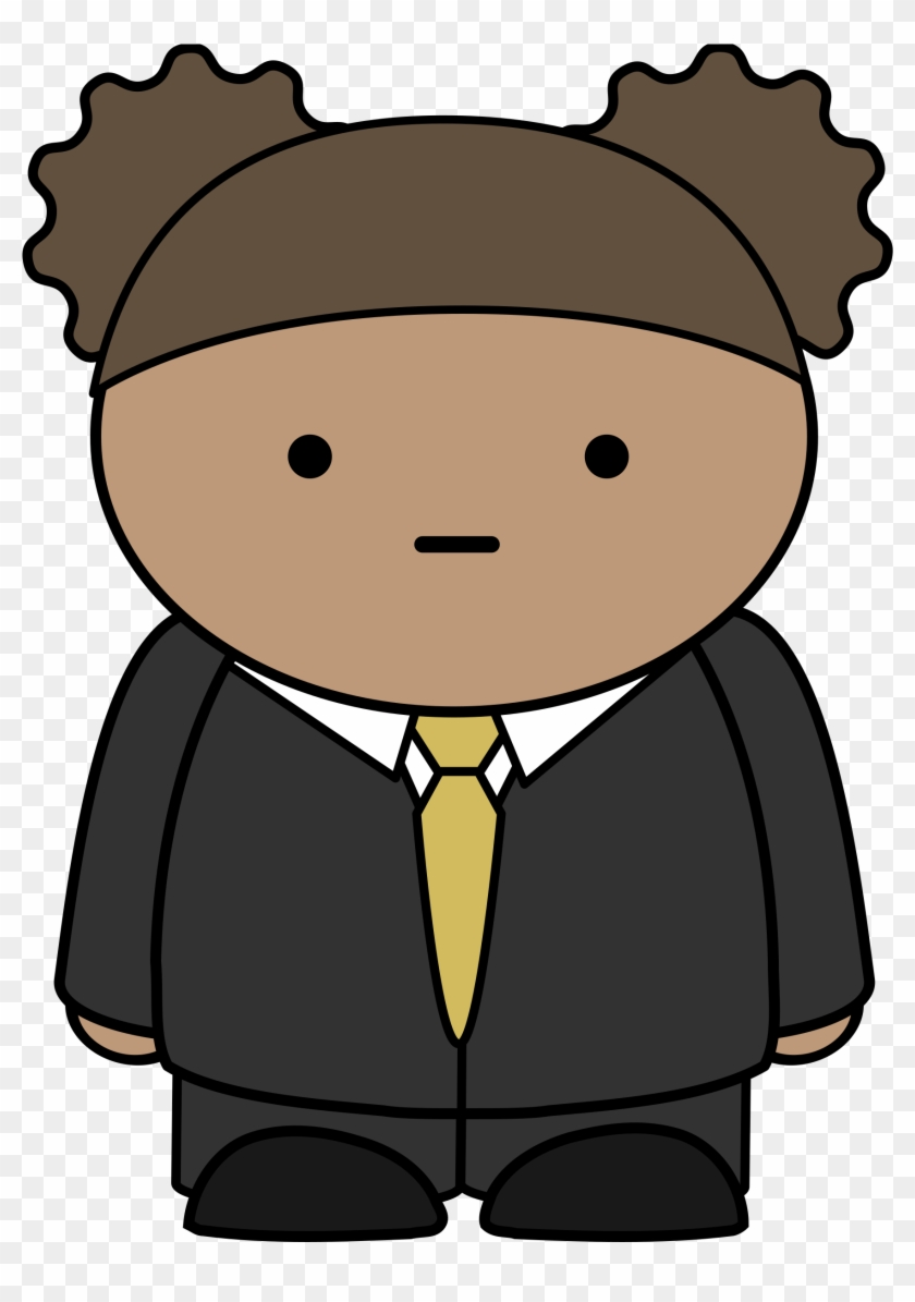 Cartoon Boy In Suit - Character Wearing A Suit #354416