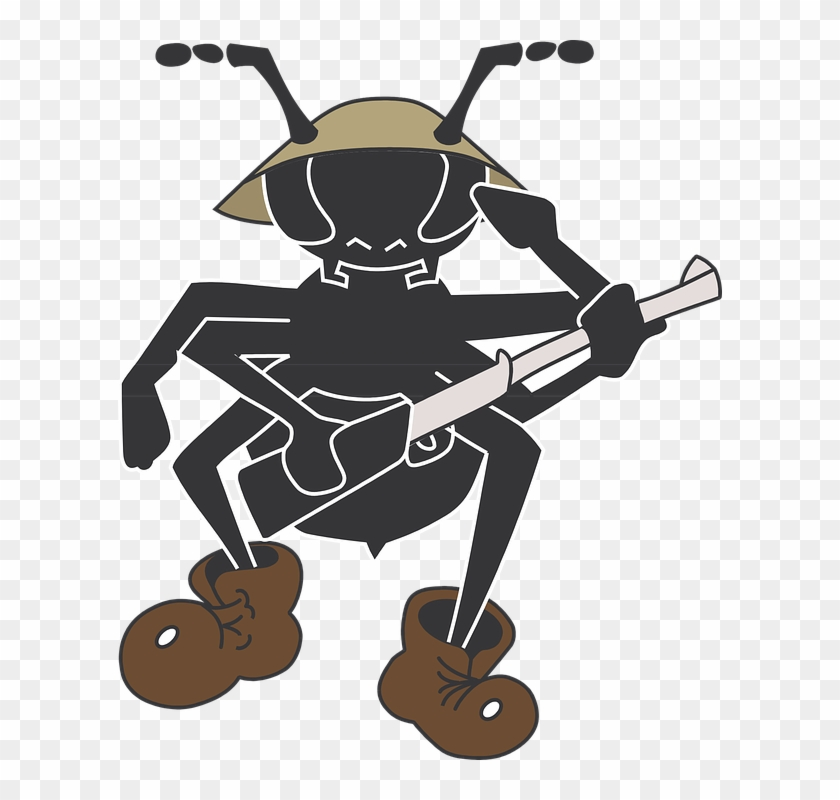 Army Cartoon 8, Buy Clip Art - Ant Soldier Clipart - Free