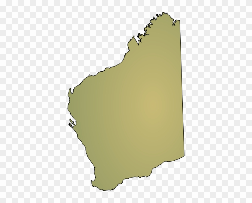 Map Of Australia By State.Western States Map Clipart Western Australia State Outline Free