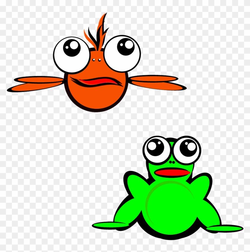 Funny Cartoon Fish 24, Buy Clip Art - Fish And Frog Clipart #354828