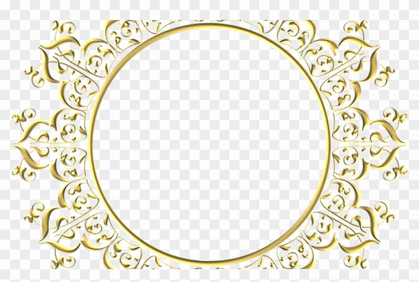 Free Illustration Gold Frame Round Border Free Image - Round Gold Border Png #355752