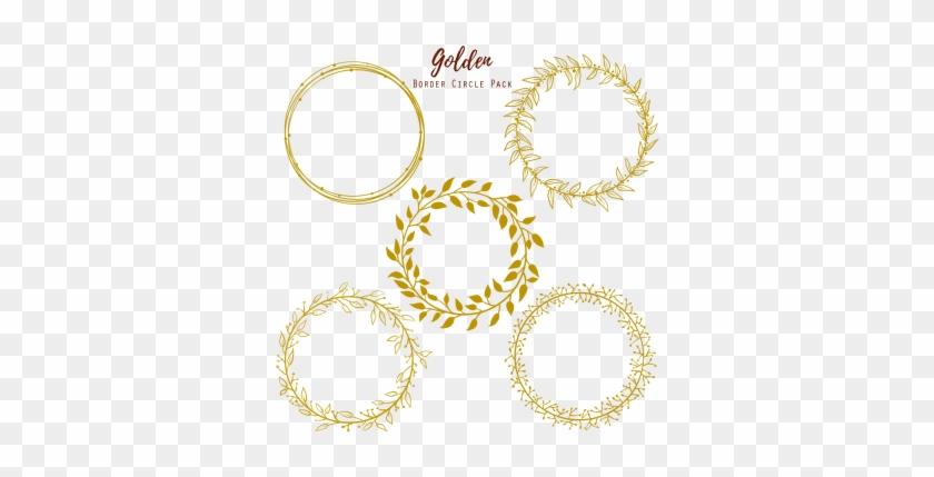 Golden Circle Wedding Frame, Golden Circle Wedding - Gold Circle Frame #355764