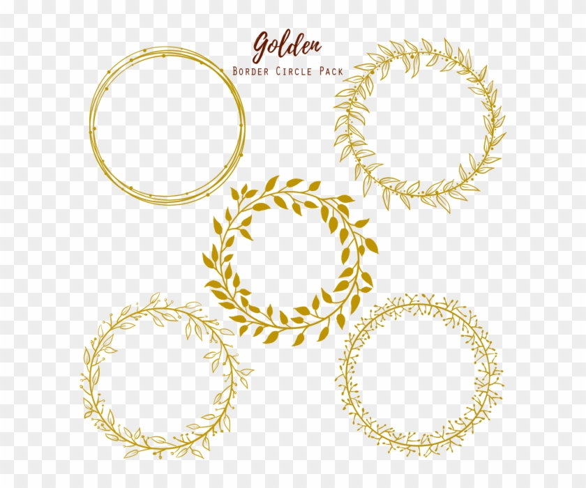 Golden Circle Wedding Frame, Gold, Golden Png And Psd - Gold Circle Frame #355768