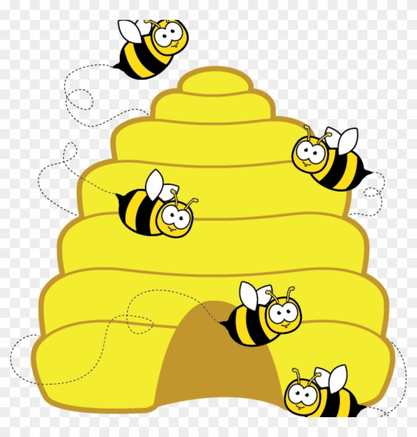 Beehive Clipart Home Free Clipart Bee Clipart Beehive - Bees In A Hive Cartoon #355889