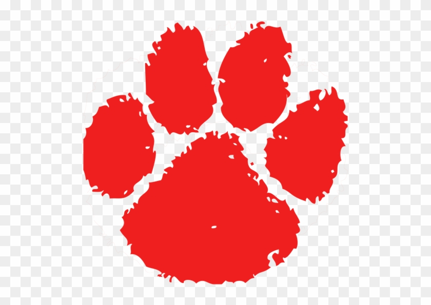 Red Tiger Paw Clipart - Fort Hamilton High School Logo #355911