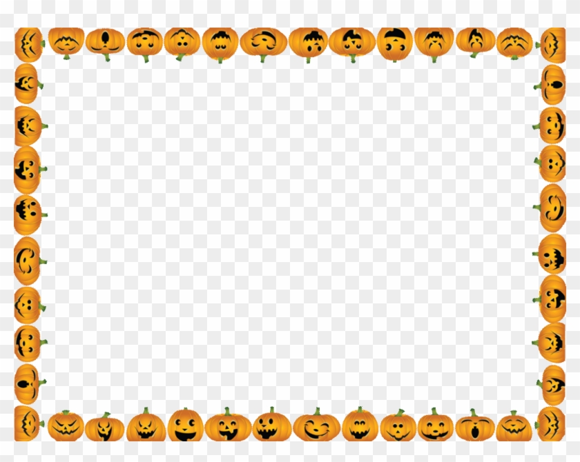 Halloween landscape page borders