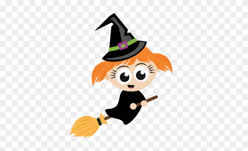 Halloween Witch Svg Scrapbook Cut File Cute Clipart - Cute Halloween Character Png #356667