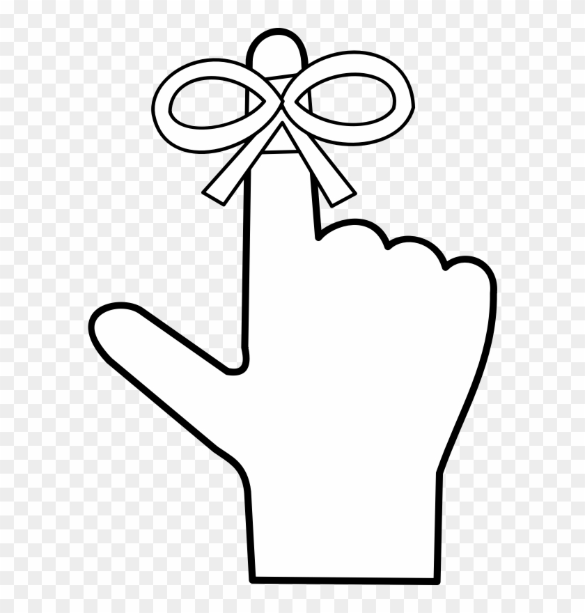 A Reminder - Reminder Finger With String #356747
