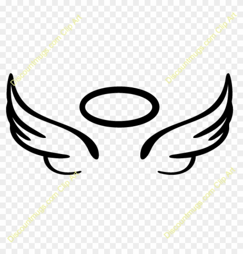 Halo Clipart Angel Wings With Halo Clipart Clipart - Easy Angel Wing Drawing #356774