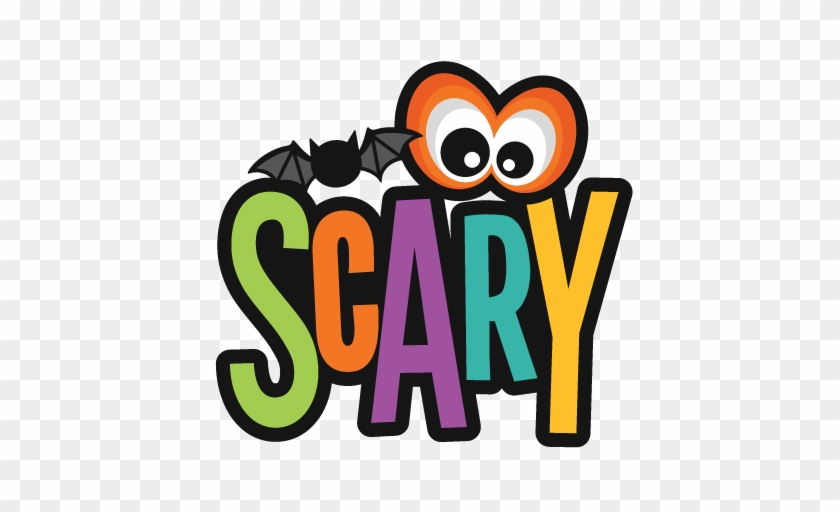 Scary Title Svg Scrapbook Cut File Cute Clipart Files - Ich Bin, Also Niedlich Ist Es Beängstigendes Shirt #357043