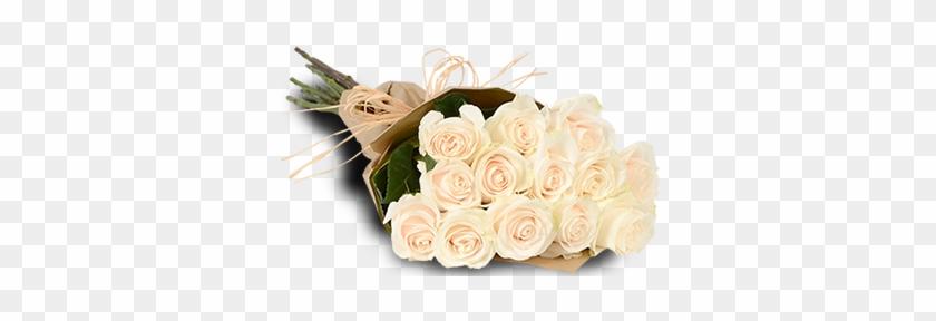 White Roses - 1 Dozen White Roses Bouquet #357305