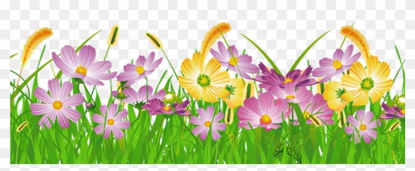 Grass Clipart No Background Google Search Borders And - Grass With Flowers Png #357824