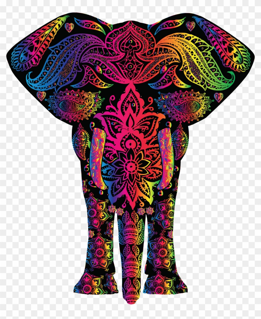 Free Clipart Of A Colorful Elephant - Colorful Pictures Of Elephants #358005