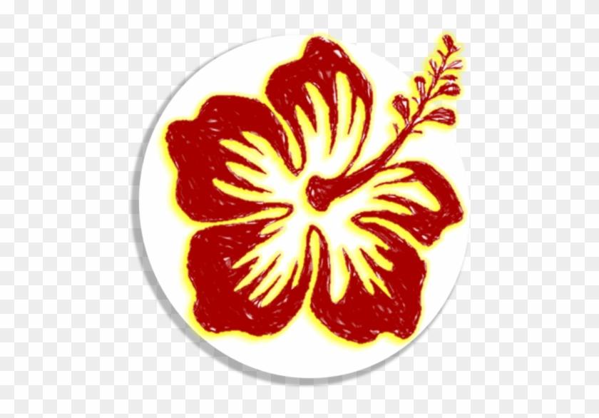 Car Stickers Detailed Hibiscus Flower Sticker #358324