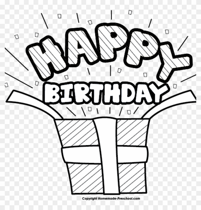 Happy Birthday Clipart Black And White Happy Birthday Happy Birthday Clipart Black And White Free Transparent Png Clipart Images Download