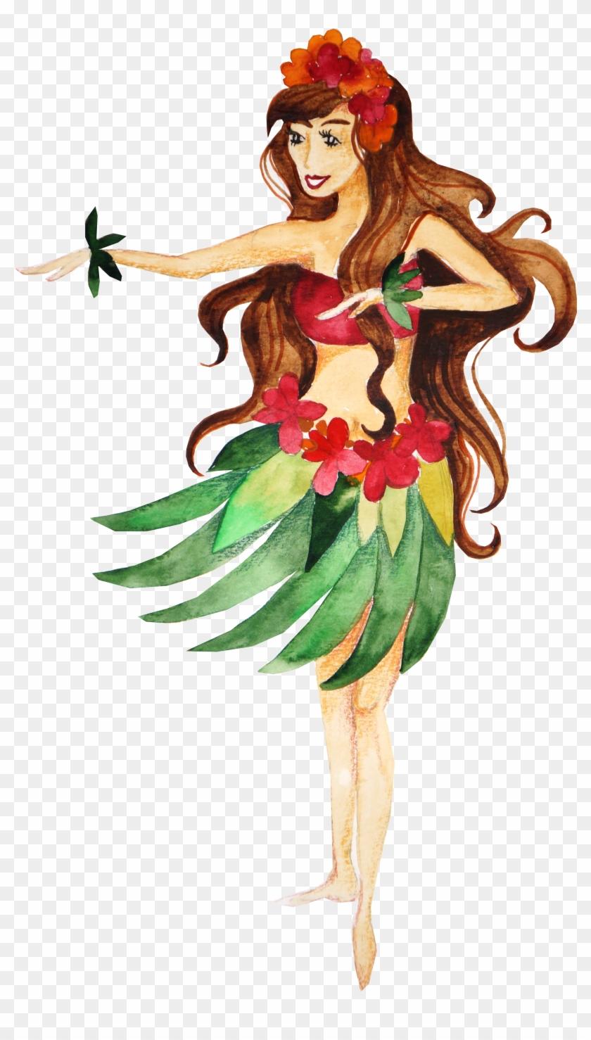Hawaii Hula Dance - Secretly Designed 'aloha Dancer On The Beach' Graphic #358621