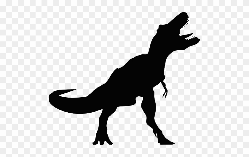 The Silhouette Of A Typical Tyrannosaur-like Theropod - T Rex Silhouette Png #358620
