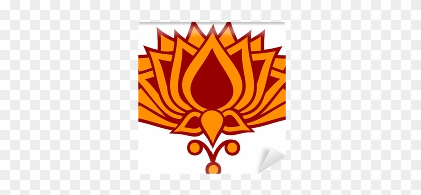 Lotus Flower Buddhism Yoga Meditation Wall Mural Symbol Of