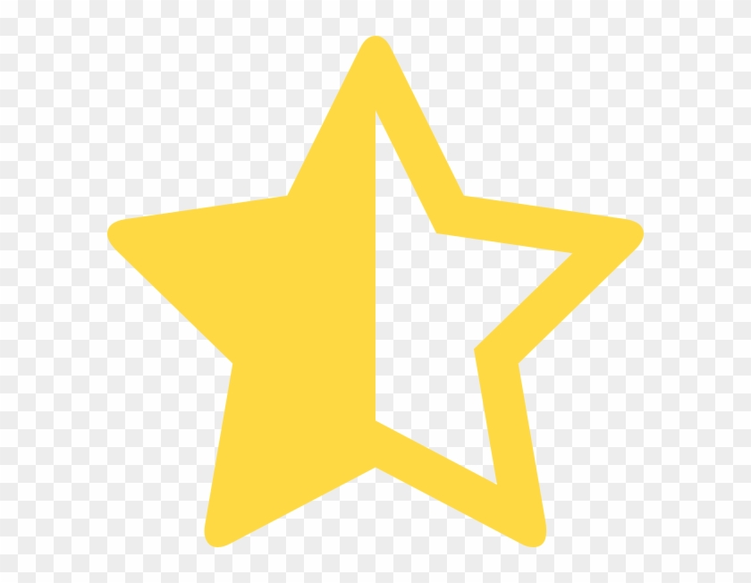 Half Star 2 Clip Art At Clker Font Awesome Free Transparent Png