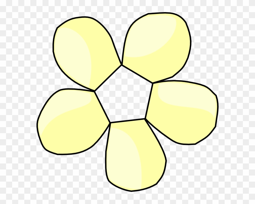 How To Set Use Pale Yellow Flower No Center Icon Png Clip Art