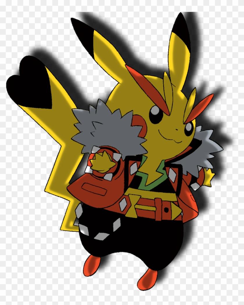 Rock Star Pikachu Anime By Samirthomas58 Rock Star - Pikachu Rockstar #359730