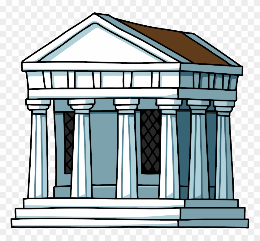 House Clipart Ancient Greek Pencil And In Color - Ancient Greek Building Png #359802