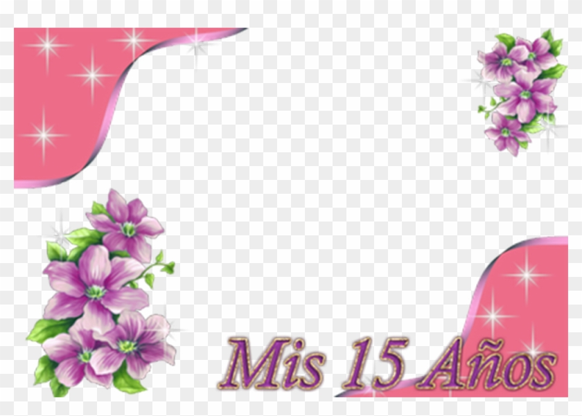 Marco De Flores 15 Años - Pink Flowers Borders And Frames Png #360024