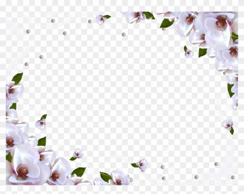 Green Flower Rings Wallpaper Border Free Wallpaper - White Flower ...