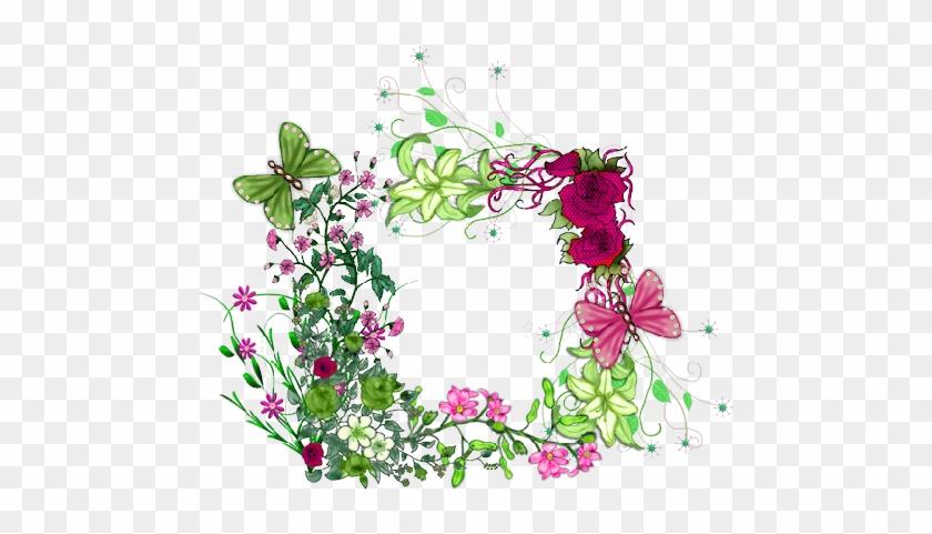 Marcos Con Flores Para Imprimir Gratis - Cadre Fleurs Et Papillons #360131