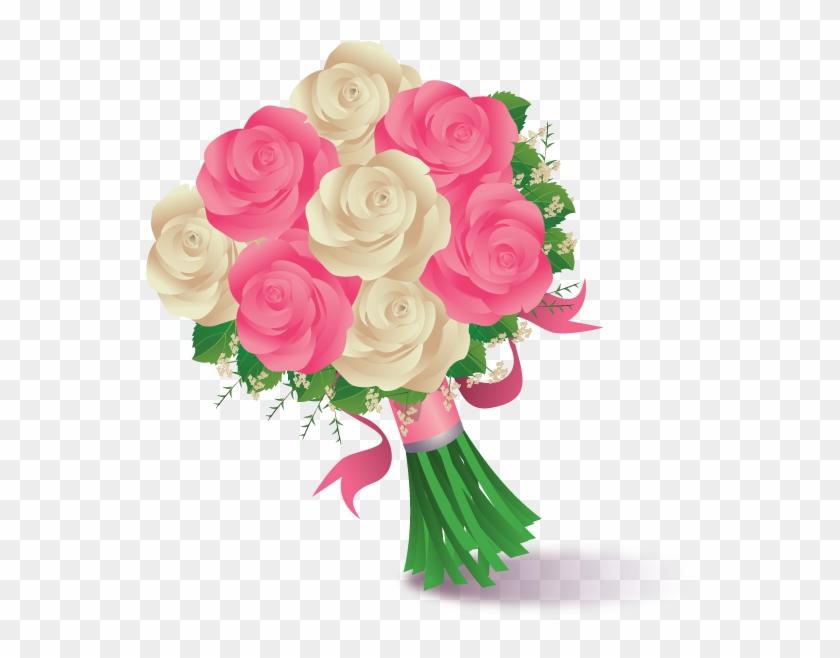 Flower Bouquet Drawing Clip Art - Buque De Noiva Vetor #360153