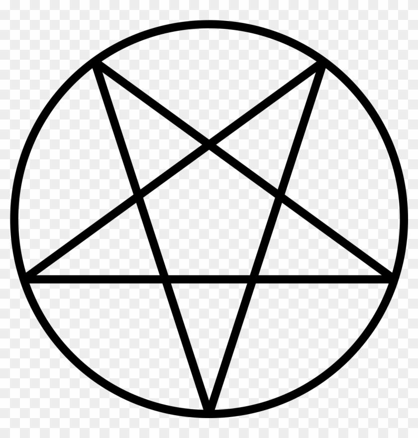 Satanism Clipart Mean - Pentagram Vector #360208
