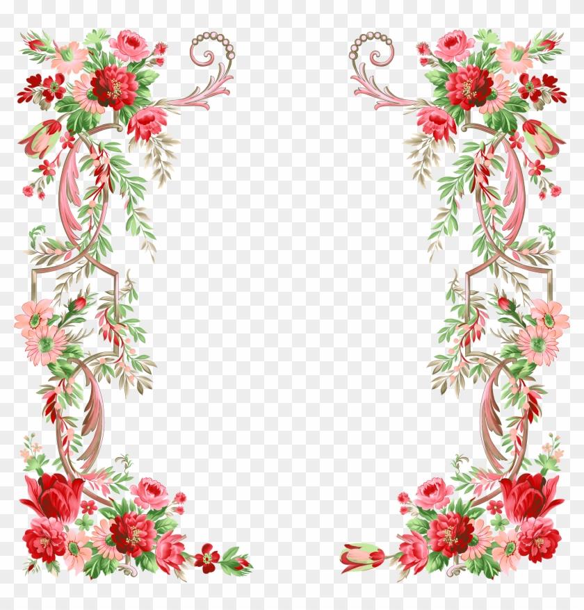 Flower Graphic Design - Border Designs Png Hd #360462