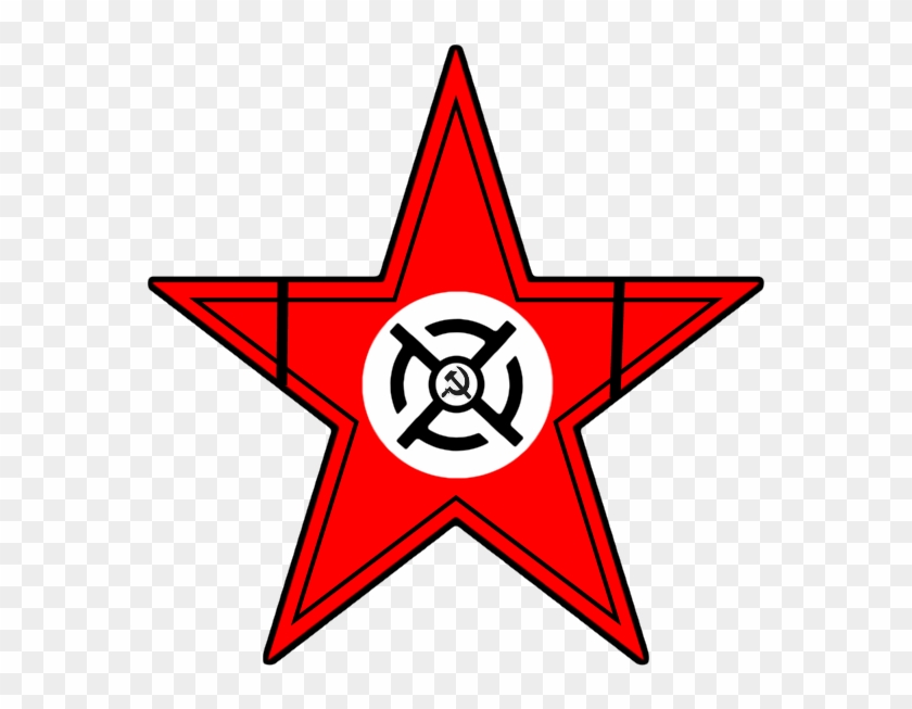 National Bolshevik Style Soviet Star By Columbiansfr - American Flag Star Png #360456