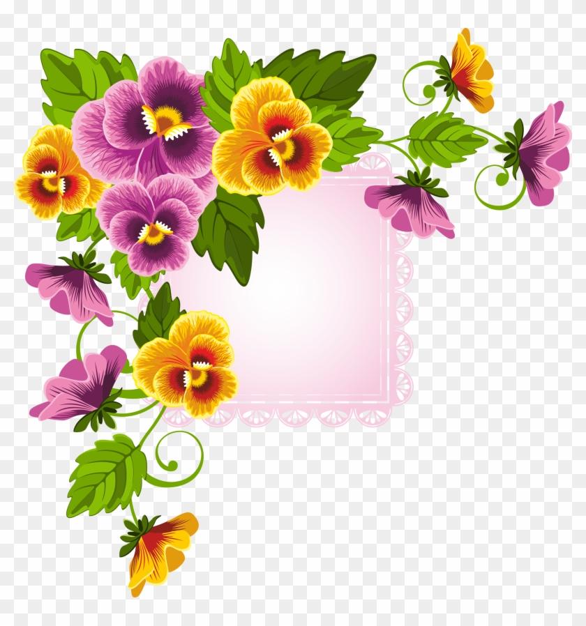 Flower Floral Design Stock Photography - Paper Border Design Of Flowers #360483