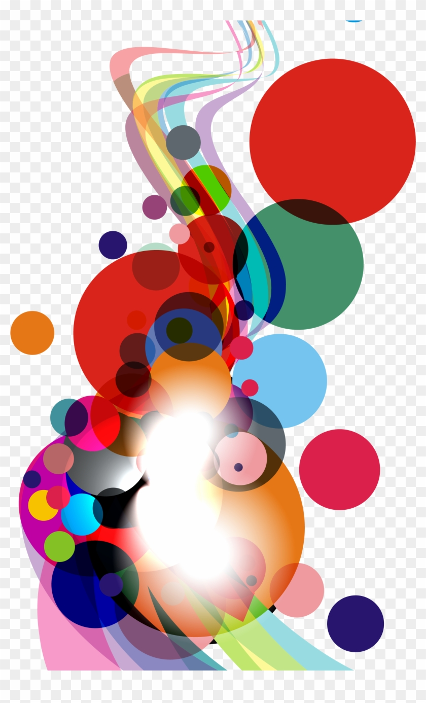 Colorful Round And Curve Abstract Background Vector Abstract