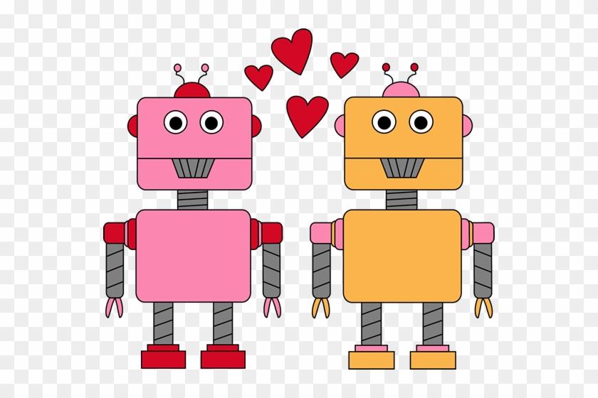 Robot Love Valentine Clip Art - Valentines Day Clipart For Kids #361061