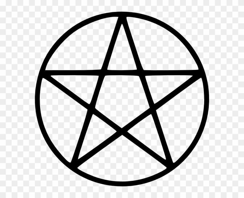 Wiccan White Pentagram Vector Clip Art Free For Download - Pentagram Copy And Paste #361170