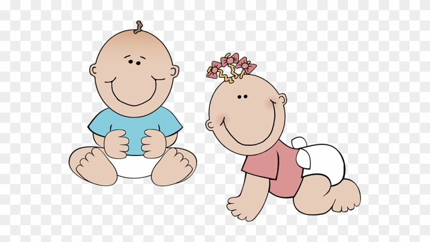 Twins Clipart Baby Shower Pencil And In Color Twins - Toddler Clipart #361322