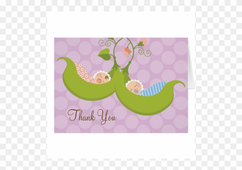 Peas In A Pod Boy Girl Twin Baby Shower Thank You Cards Thank You