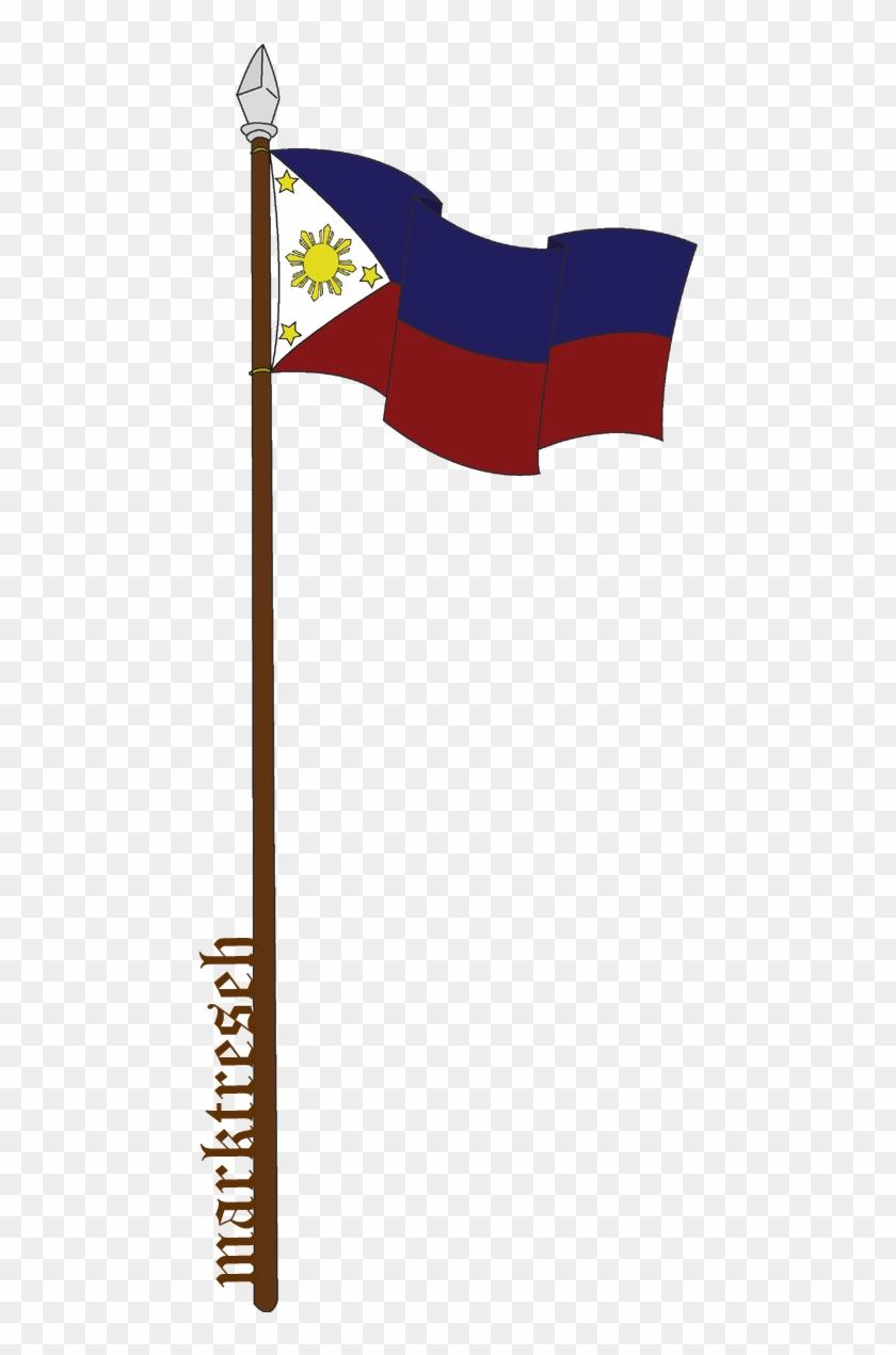 philippine flag black and white clipart - philippine flag pole