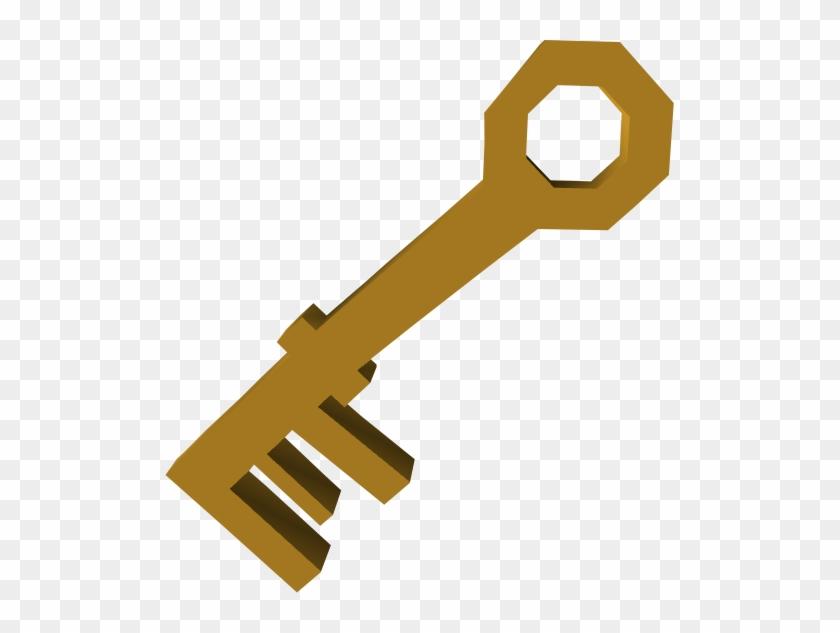 House Key Detail - Runescape Brass Key #361461
