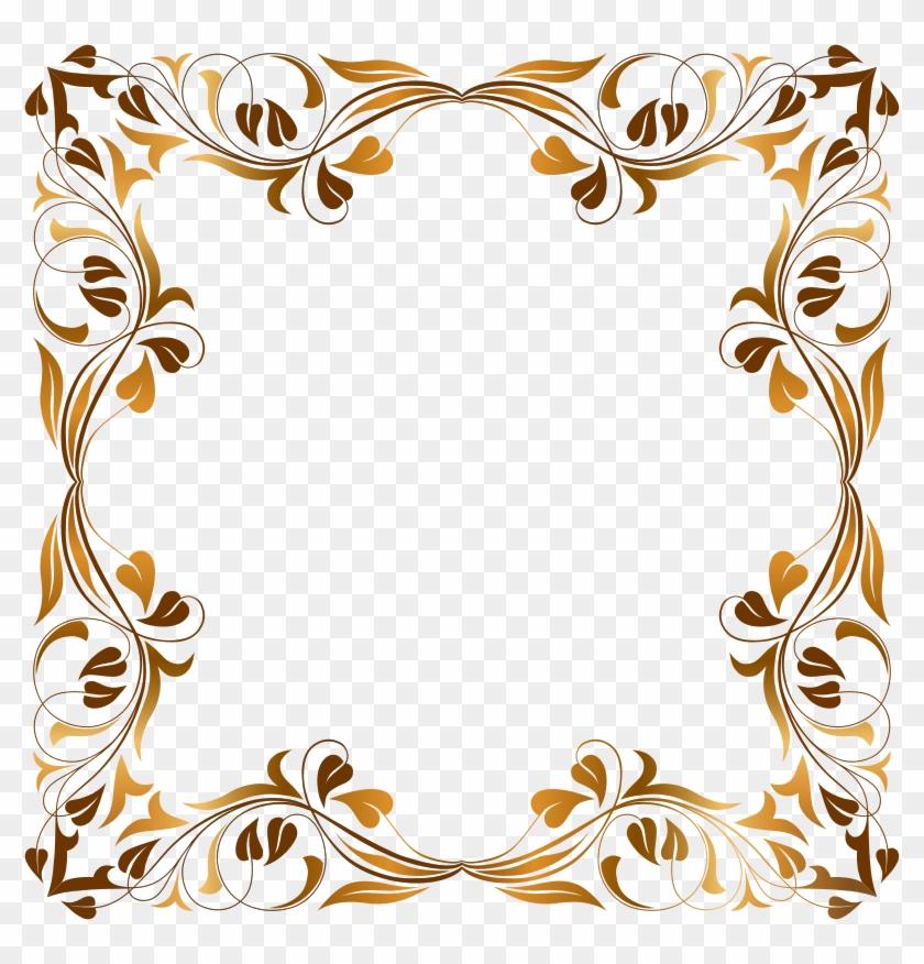 Vector Floral Design Border Download - Floral Flourish Frame #361475