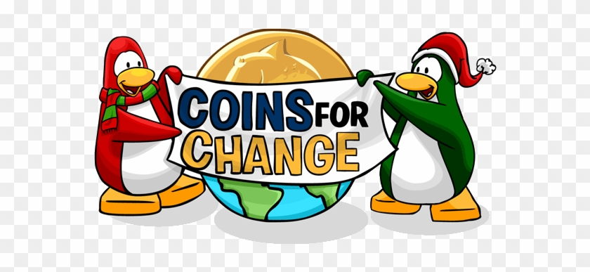 This Virtual Charity Encourages Players To Join The - Coins For Change Club Penguin #361726