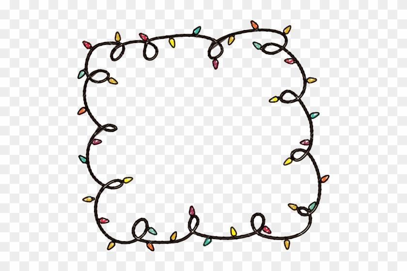 Cartoon Christmas Lights - Cartoon Christmas Lights In A Circle #361825 - Cartoon Christmas Lights - Cartoon Christmas Lights In A Circle