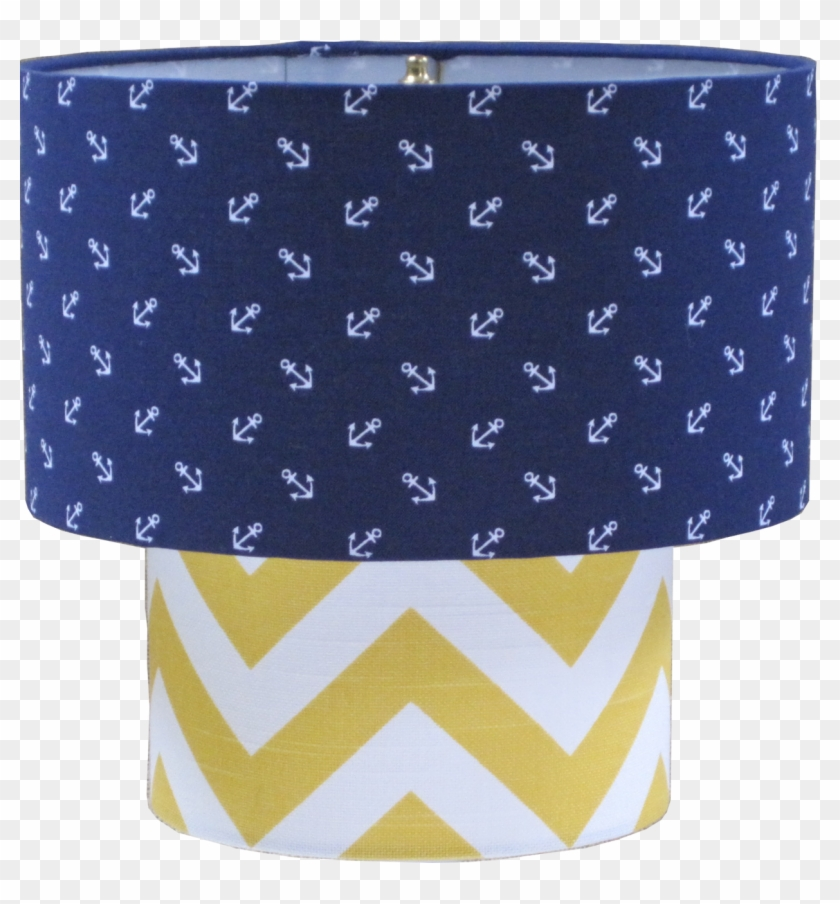 Lampshapescom Nautical Lamp Shade Two Tier Scattered - Rot-und Marine-blau-seeanker-muster Babydecke #362302