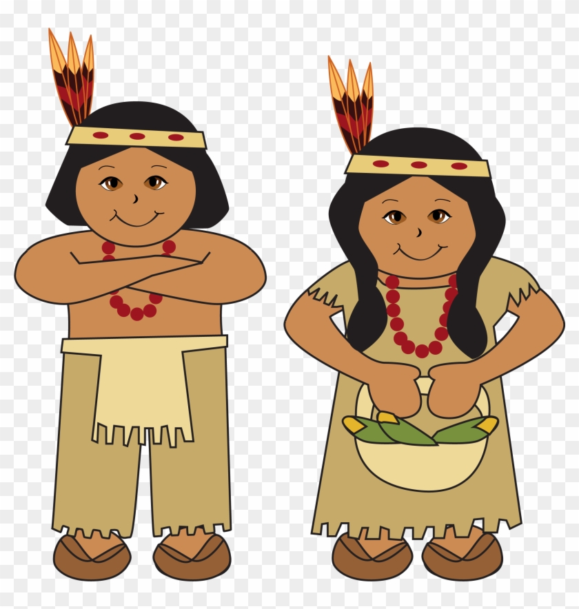 Thanksgiving Clipart Indian - Native Americans Clipart #362435