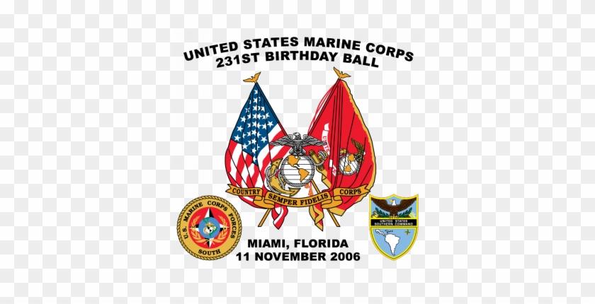 Usmc United States Marine Corps 231st Birthday Ball - Dr. Seuss Personalized Photo Vinyl Banner #362776