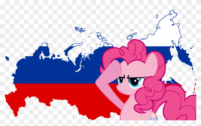 Pinkie Pie Salutes Russia By Shitalloverhumanity - Russia Flag And Map Baby Blanket #362818