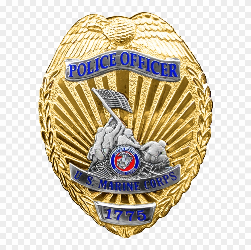 Police Badge Template - Usmc Military Police Badge #362943