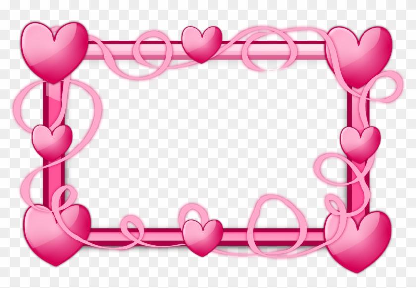 Pink Baby Shower Borders For Kids - Heart Frames - Free Transparent ...